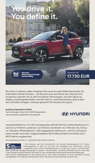 Hyundai-Anzeige