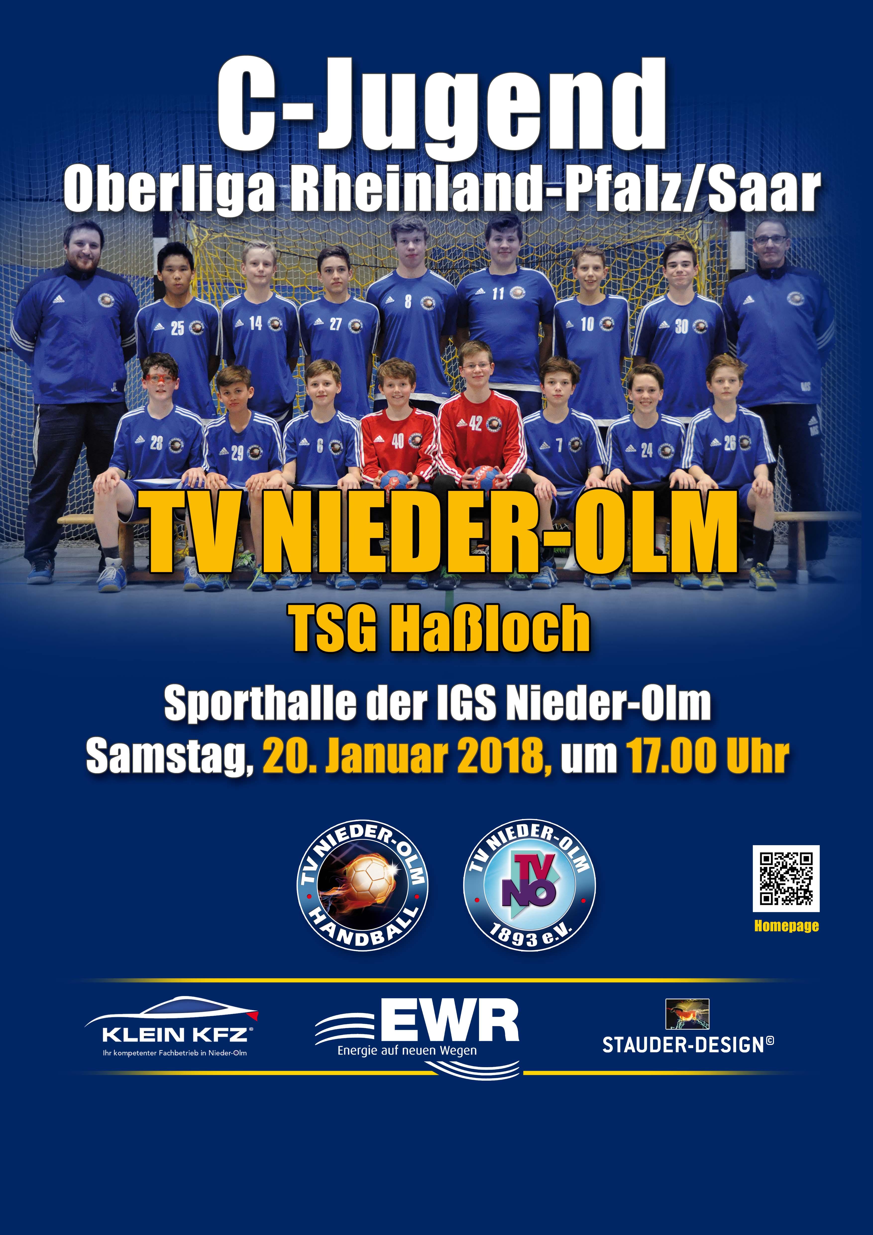 Oberliga RPS: männl. C-Jugend empfängt am Samstag die TSG Haßloch!