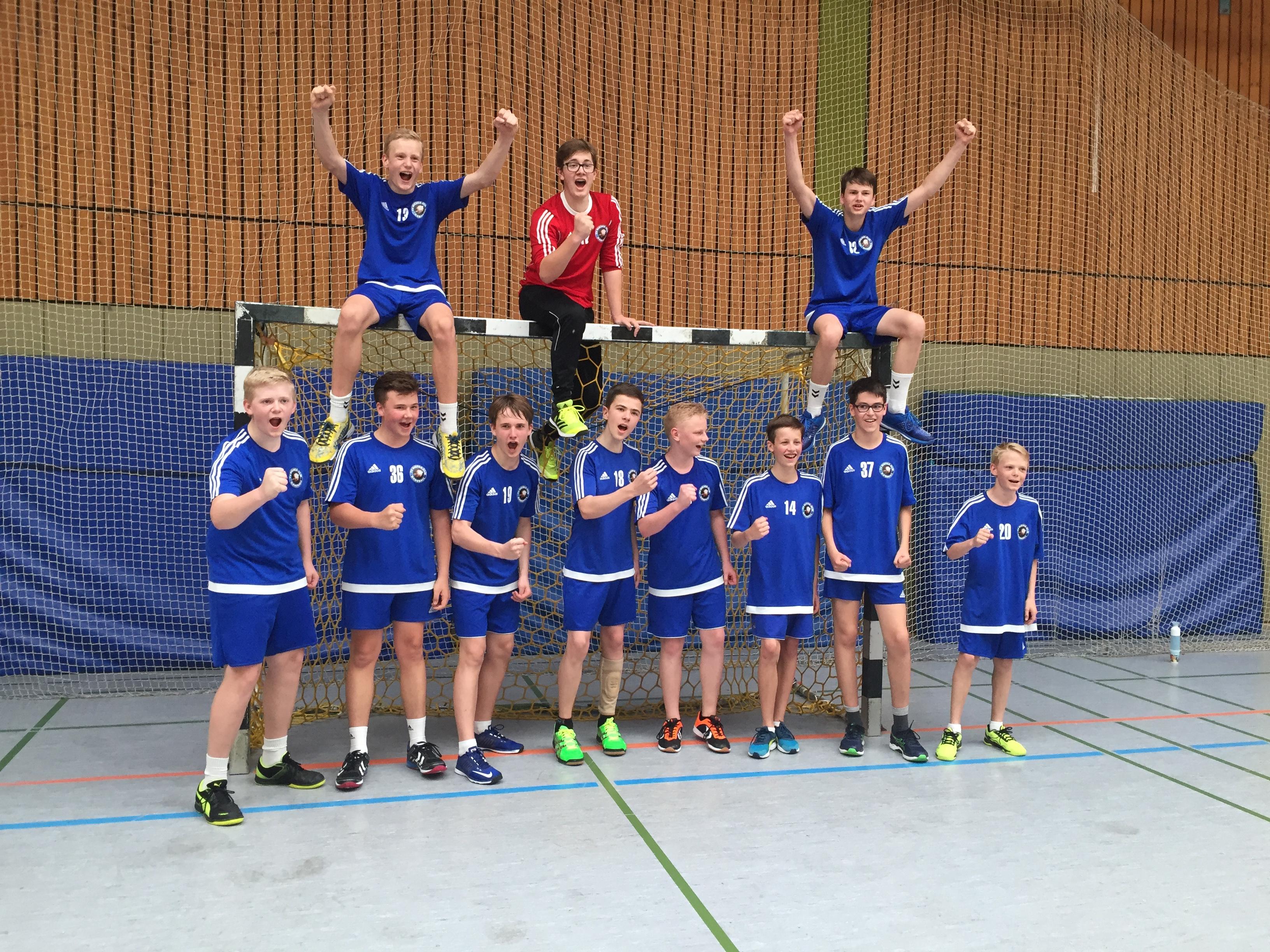 So sehen Vize-Meister aus! männl. C-Jugend Kreisklasse: TV Nieder-Olm II – HSG Worms 36:14 (16:9)